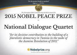 Resultado de imagen para Peace Prize for Tunisian Quartet