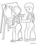 Рисовать на компьютере раскраски для девочек