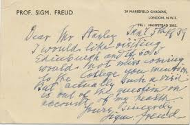 sigmund freud autograph letter signed uncommon extended sigmund freud