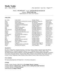 resumé molly noble actor director teacher molly noble resume
