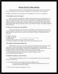 student resume examples little experience  socialsci cocollege student resume examples little experience