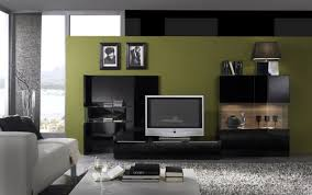 maryland modern entertainment wall unit in black or white inside
