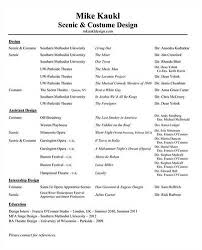 costume designer resume example   best sample resumecostume design resume