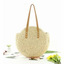 <b>Straw bag Women's</b> fashion <b>shoulder bag</b> center round rattan <b>straw</b> ...
