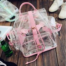 Новый женский рюкзак прозрачный пластиковый прозрачный ...