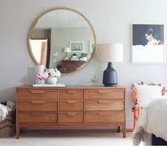 bedroom suite mirror dresser emily storage master bedroom makeover mid century modern inspired by emily henderson