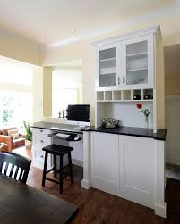 maher project traditional kitchen idea in ottawa with shaker cabinets chic corner office desk