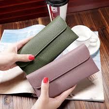 <b>Women</b> Top Quality Lether <b>Wallet Multi</b>-<b>card Long</b> Coin <b>Purse</b> ...