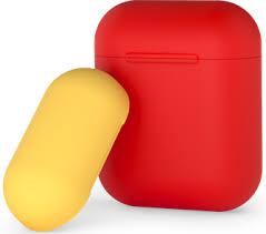 Купить <b>Чехол</b>-<b>футляр Deppa</b> для Apple AirPods Red/Yellow по ...