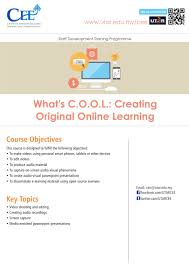 centre for extension education what s c o o l creating original online learning