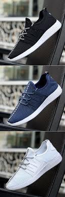 <b>Men Mesh</b> Fabric Breathable Casual Light <b>Running</b> Shoes Slip On ...