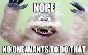 Sweetly Retarded Abominable Snowman memes   quickmeme via Relatably.com
