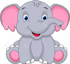 Image result for pink baby elephant clipart