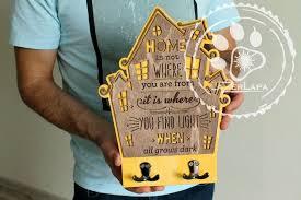<b>Ключница</b> в форме дома стильный подарок на новоселье с ...
