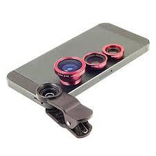 Clip <b>3 in 1</b> Wide Angle Lens /Macro Lens/<b>180</b> Fish Eye Lens Kit Set for