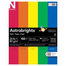 "Astrobrights <b>Color</b> Paper <b>100 Sheets</b>, 8.5"" x 11""- Primary 5-<b>Color</b> ..."