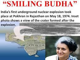 「1974, indian underground nuclear test」の画像検索結果
