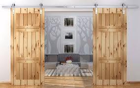 12ft antique country style stainless steel sliding barn door double barn door sliding track kit hardware barn style sliding doors