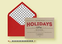 kraft paper modern holiday moving card letter loft kraft paper modern holiday moving card invite template