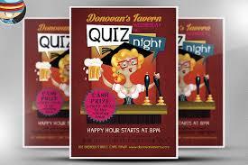 pub quiz flyer template flyer templates on creative market