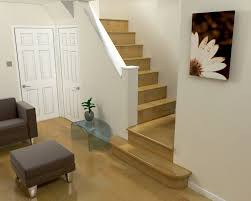 f appealing small space interior decors with simple lacquered teak wood 2 quarter landing staircase and by using bullnose nosing designs beside chic appealing small space living