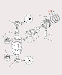 <b>Кольцо</b> поршневое <b>верхнее для</b> лодочного мотора F9,9 Sea-PRO