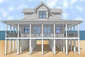 Classic Florida Cracker Beach House Plan   Eurohouse