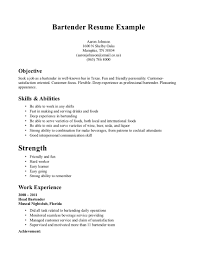 Resume For Bartender With No Experience  bartender objective     NFL Picks             Fascinating Simple Resume Example Examples Of Resumes