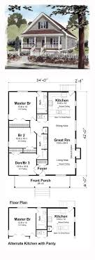 ideas about Bungalow House Plans on Pinterest   House plans    Bungalow Cottage Country Traditional House Plan