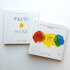 Image result for herve tullet books press here mix it up