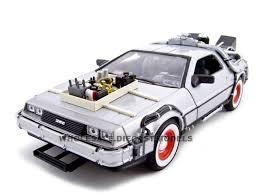 "Delorean From <b>Movie</b> ""Back To The Future 3"" Diecast Model <b>1/24</b> ..."