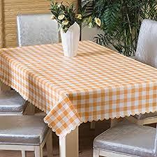 Ufelicity Home Plaid Tablecloth <b>Plastic</b> Easy Clean <b>Non</b>-<b>Toxic PVC</b> ...