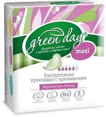 Прокладки Green Day Ultra Maxi Dry 8 шт - Все для дома