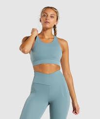 Gymshark <b>Captivate</b> Sports <b>Bra</b> - Turquoise | Gymshark