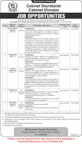 cabinet division islamabad jobs application form data cabinet division islamabad jobs 2015 application form data entry operator it technician others