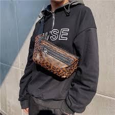 <b>Tidog</b> korean fashion <b>Trend new</b> leopard chest bag ₱1035