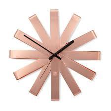 <b>Часы настенные Ribbon</b>, <b>медь</b> 118070-880 от Umbra за 4 900 ...
