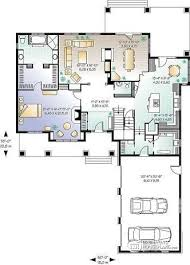 House plan W detail from DrummondHousePlans com    st level   bed   bath    car garage