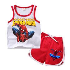 <b>2019Children Boys Girls</b> Anime Spiderman Clothes Set Kid Cartoon ...