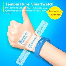 V9 LED <b>Smart Temperature Measurement Bracelet</b> Intelligent ...