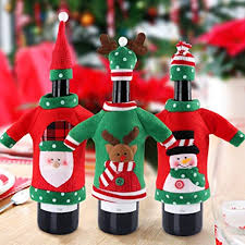 red wine bottle cover bags decoration home party santa claus christmas 2020 santa sacks christmas bags