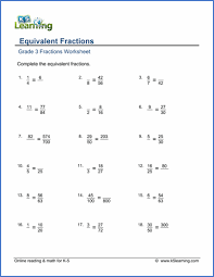 Grade 3 Fractions and Decimals Worksheets - free & printable | K5 ...Grade 3 Fractions Worksheet