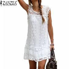 <b>ZANZEA</b> Vestidos <b>2019 Summer</b> Elegant <b>Women</b> Casual Solid ...