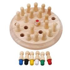 Kid Educational <b>Wooden Memory Match</b> Stick Chess Game Baby ...