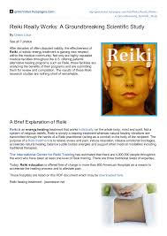 <b>Reiki</b> Really Works: A Groundbreaking Scientific Study