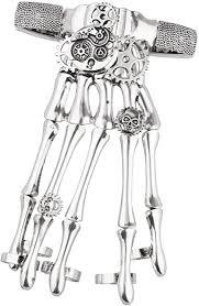 Lux Accessories Halloween Silver Tone Gothic Skull ... - Amazon.com