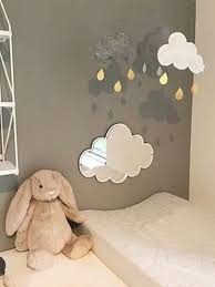 Buy 1Pc Creative Shape Mirror With <b>Wood Board</b> Lovely Kids Room ...