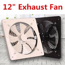 Black 12 inch Exhaust Fan High Speed Air Extractor Window ...