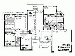 Eplans Country House Plan   One Story Brick Home   Square    Level