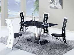 Dining Room Chairs White Black And White Dining Room Chairs Marceladickcom